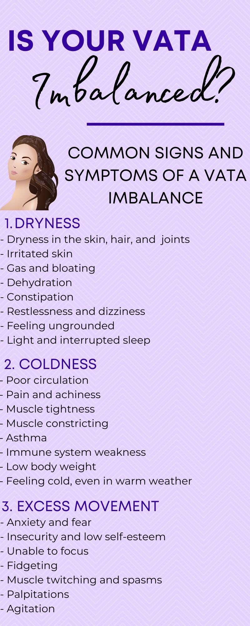 vata imbalance checklist